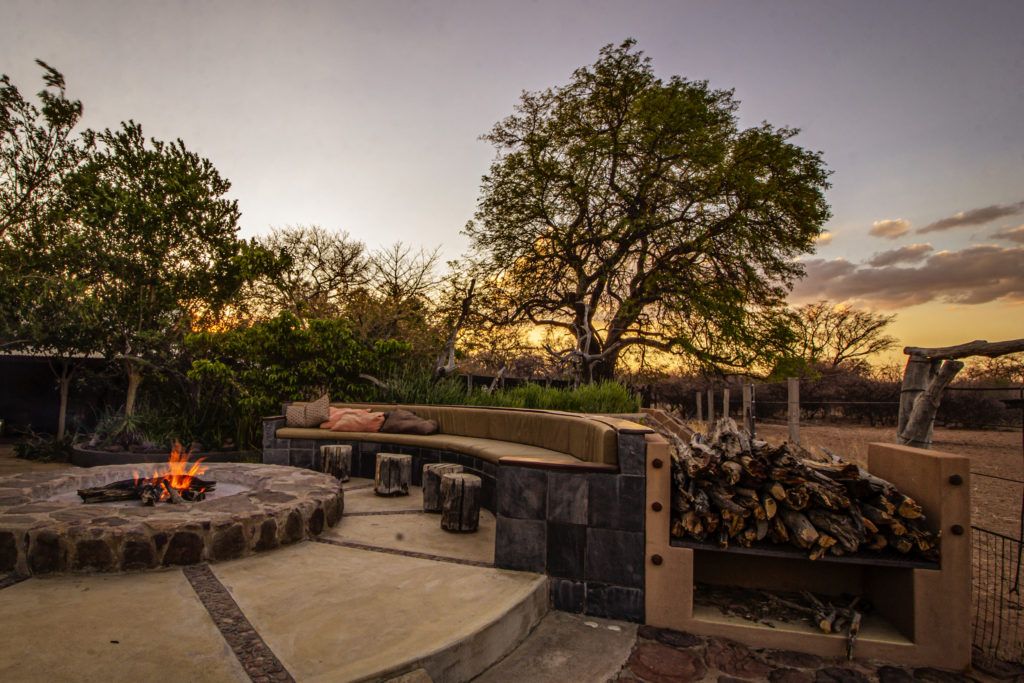Nothing is more tranquil than a sunset by the fireplace.